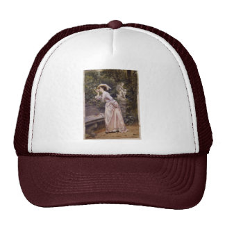 Lady Smelling Roses Cap