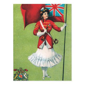 Lady Soldier Great Britain Postcard