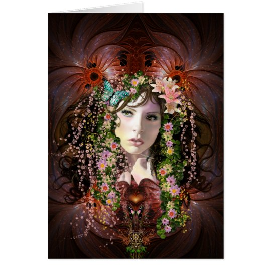 Lady Spring Goddess Blank Note Card