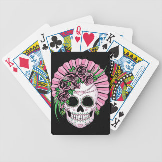 Lady Sugar Skull Bicycle Playing Cards
