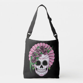 Lady Sugar Skull Crossbody Bag