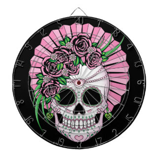 Lady Sugar Skull Dartboard