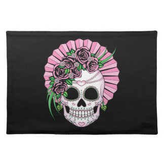 Lady Sugar Skull Placemat