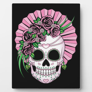 Lady Sugar Skull Plaque