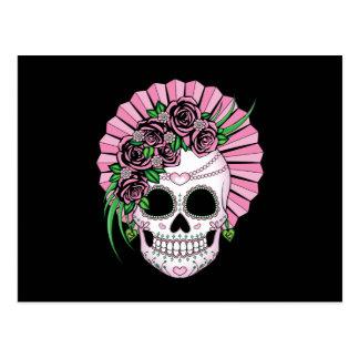 Lady Sugar Skull Postcard