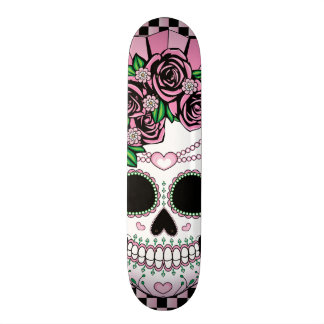 Lady Sugar Skull Skateboard