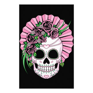Lady Sugar Skull Stationery