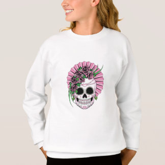 Lady Sugar Skull Sweatshirt