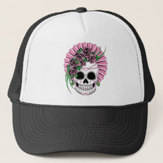 Lady Sugar Skull Trucker Hat