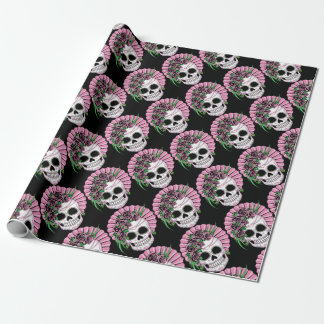 Lady Sugar Skull Wrapping Paper