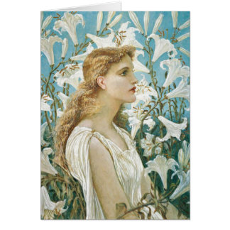 Lady Surrounded by Lilies, Card