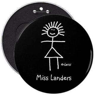 Lady Teacher Name Tag Button Funny