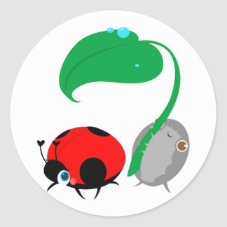 """Lady & The Pillbug"" Stickers"