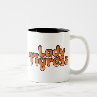 lady tigress Two-Tone coffee mug