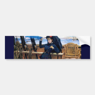 Lady Travelling by Sea painting Bumper Stickers