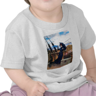 Lady Travelling by Sea painting Tshirts