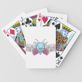 Lady Triceratops Bicycle Playing Cards
