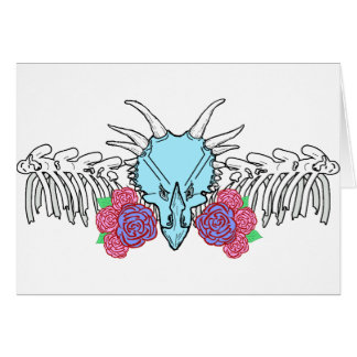 Lady Triceratops Card