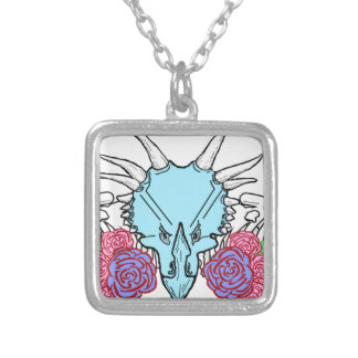 Lady Triceratops Silver Plated Necklace