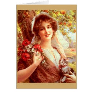 Lady Under an Apple Tree, Card