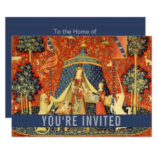 Lady Unicorn Medieval Print Customize Tapestry Art Card