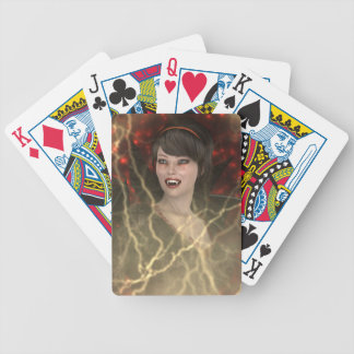 Lady Vamp Bicycle Playing Cards