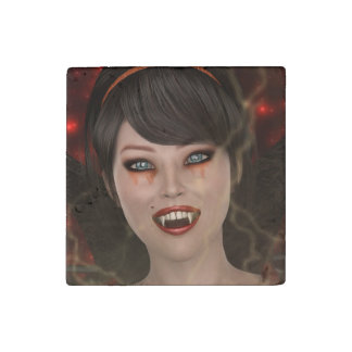 Lady Vamp Stone Magnet