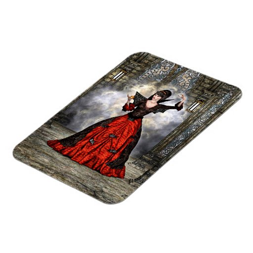 Lady Vamp Rectangle Magnets