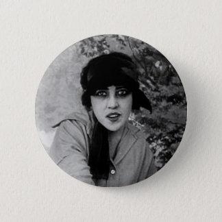 lady vampire 6 cm round badge