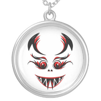 LADY VAMPIRE SILVER PLATED NECKLACE