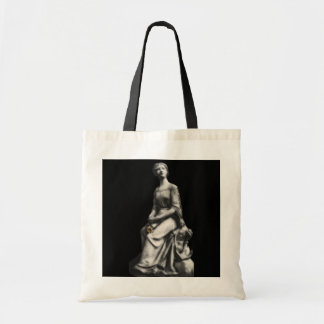 Lady w/book and flower Bag