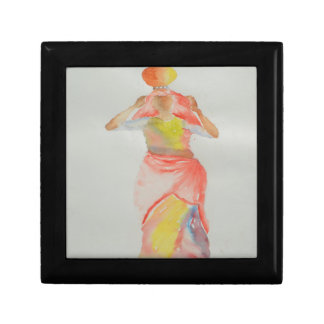 Lady Watercolor painting Gift Box