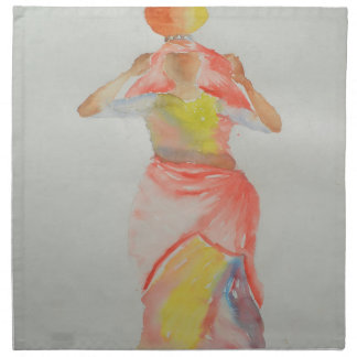 Lady Watercolor painting Napkin