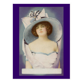 Lady Wearing Big Hat with Bow Postcard