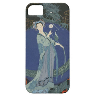 Lady with a Dragon (colour litho) iPhone 5 Case