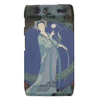 Lady with a Dragon (colour litho) Motorola Droid RAZR Cover