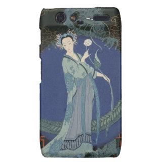 Lady with a Dragon (colour litho) Motorola Droid RAZR Cases