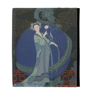 Lady with a Dragon colour litho iPad Folio Cover