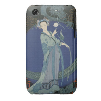 Lady with a Dragon (colour litho) iPhone 3 Case-Mate Cases