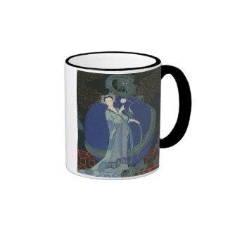 Lady with a Dragon (colour litho) Coffee Mugs