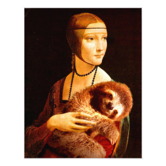 Lady with a Sloth Photo Print