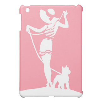 Lady with a Terrier Silhouette iPad Mini Case