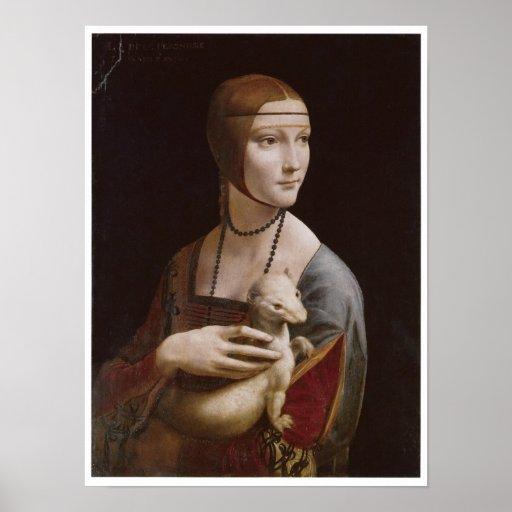Lady with an Ermine, Leonardo da Vinci, 1485 Print