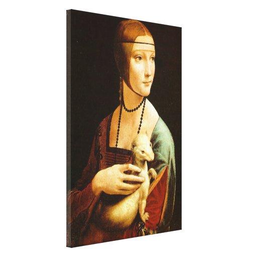 Lady with an Ermine,leonardo da Vinci Gallery Wrapped Canvas
