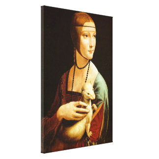 Lady with an Ermine,leonardo da Vinci Gallery Wrap Canvas
