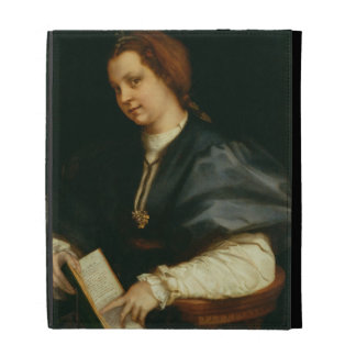 Lady with Book of Verse by Petrarch, c.1514 (oil o iPad Folio Covers