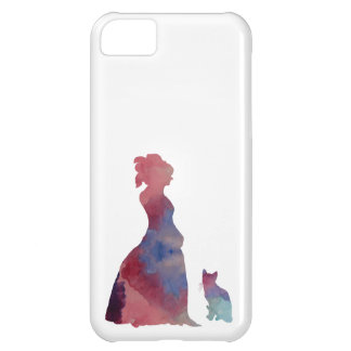 Lady with cat iPhone 5C case