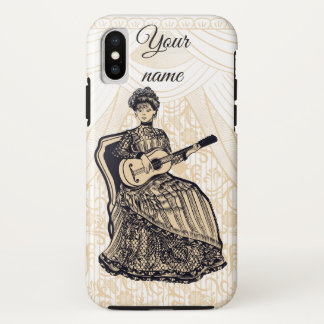 lady with guitar iPhone x case
