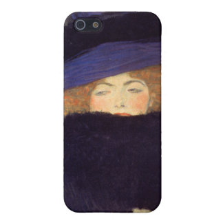 Lady with Hat and Feather Boa - Gustav Klimt Case For The iPhone 5