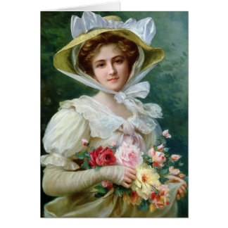 Lady with Roses, Card